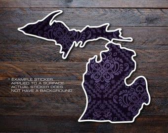 Michigan Mitten Vinyl Decal Sticker A36