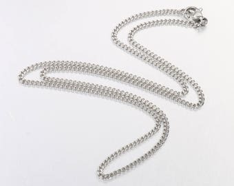 304 Grade Stainless Steel Curb Faceted Chain - 24""
