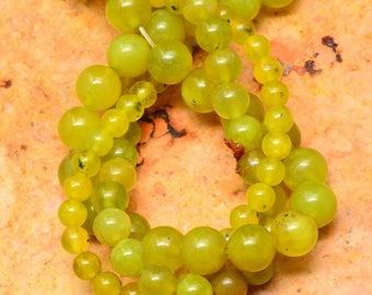 3 Strands of Korea Jade Gemstome Beads 4 to 8mm Korea Jade THREE Full Strands for a low price