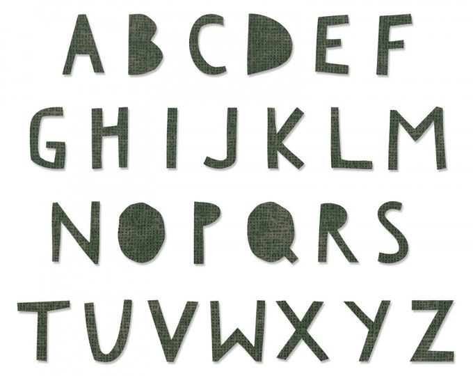 Will ship March 20th - Sizzix Tim Holtz Bigz XL Alphabet Die - Cutout Upper 662707