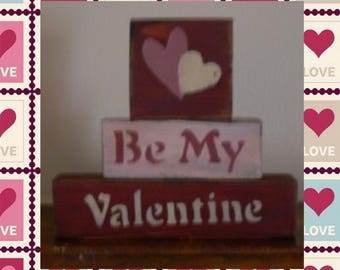 Be My Valentine Stackable Blocks