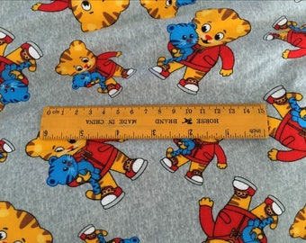Pretty Daniel Tiger pattern soft Cotton Fabric Cotton 50*168 cm cotton knit 1/2 yard