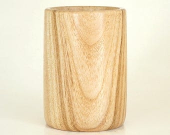 Wooden Pencil Cup Pen Holder Turned in Honey Locust