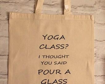 Yoga class tote bag