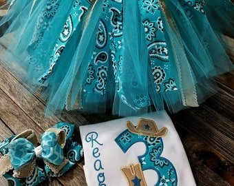 Cowgirl Tutu Birthday Set