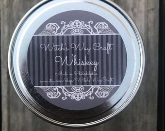 Whiskey Scented Soy Candle // Cocktail Candle // Adult Beverage //  Aromatherapy Candle // Essential Oils // Mommy's Special Candle