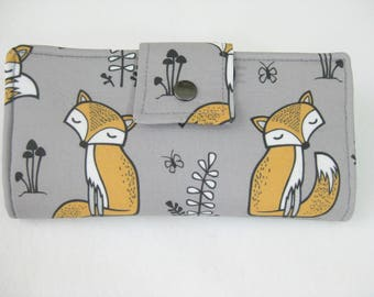 Womens Wallet, Fox Wallet, Handmade Ladies  Wallet