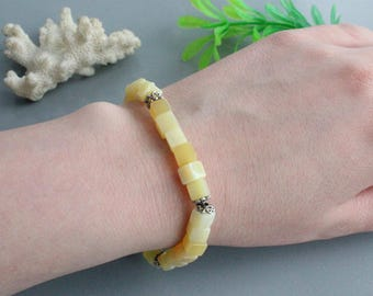 Opal sterling silver bracelet , opal jewelry, opal silver, beaded bracelets, opal jewellery, silver bracelets, with stone