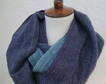 Blue to Purple Loop Cowl