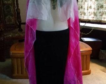 Made to order Silk tye dye vest duster