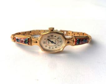 Gold vintage watch. Women's watch, Women's soviet watch, Vintage watch, Russian watch, Chaika watch, 17 jewels watches, Mechanical watch