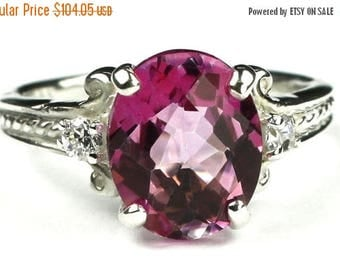 On Sale, 20% Off, Pure Pink Topaz, 925 Sterling Silver Ring, SR136