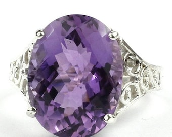 On Sale, 30% Off, Amethyst, 925 Sterling Silver Ladies Ring, SR049