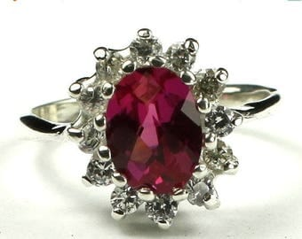 On Sale, 30% Off, Crimson Fire Topaz, 925 Sterling Silver Ring, SR235