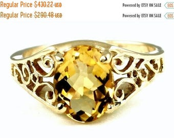 On Sale, 30% Off, Citrine, 14KY Gold Ring, R005