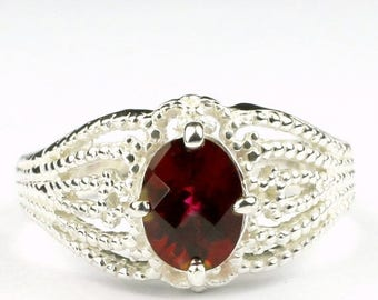 On Sale, 30% Off, Crimson Fire Topaz, 925 Sterling Silver Ladies Ring, SR365