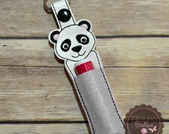 Lip Balm, Chapstick, Flash Drive, USB Drive Holder - Panda