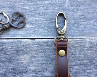 Leather key fob, keychain,key ring