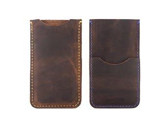 Handmade Leather Phone Sleeve, iPhone 6+ Case, Leather Phone Case, iPhone 6 Plus Case