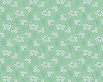 Little Dolly Flowers Green SKU: C6364-GREEN by Elea Lutz for Penny Rose Fabrics