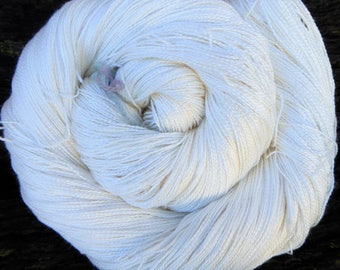 MULBERRY SILK Laceweight  super-soft Pure Silk, 100 gms 400 mts Mollycoddle Yarns, undyed natural