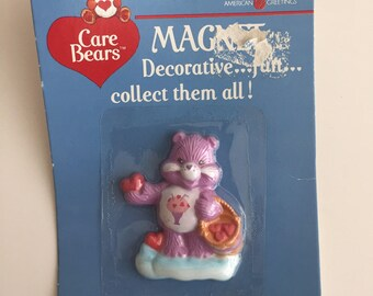 Vintage 80s CARE BEARS share bear magnet new in package