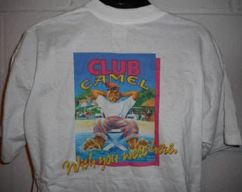 "Vintage 90s Joe Camel Cigarettes ""Camel Club Member"" T-Shirt XL"