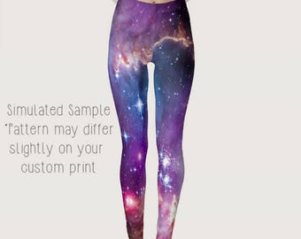 Guardians of the Galaxy Outer Space Leggings, Yoga Pants, Milky Way, Planets, Cosmic, Cosmos, Nebula, Out of this World, Hologram -Galaxy 1