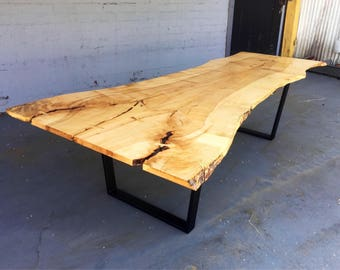 SOLD - Beautiful & Very Large Bookmatched Maple Dining Table/Conference Table