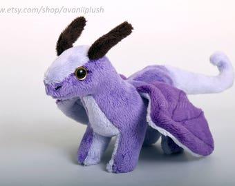 Amethyst Dragon Beanie Plushie