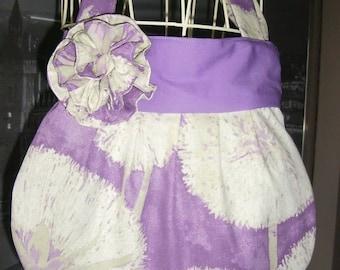 Saca handmade artisanal French ball purple dandelions