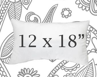 SALE ENDS SOON Faux Down Pillow Insert, 12 x 18 Inch Pillow Form, Down Pillows, Throw Pillows, Soft Pillows