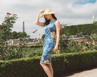 """Jungle in Paris"" pencil dress"