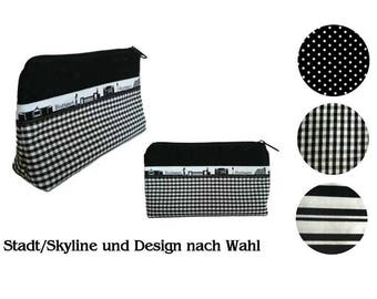 Cosmetic bag - city and design of your choice