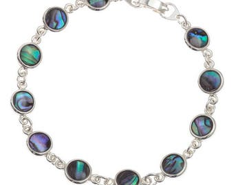 Tide Jewellery Paua Shell Round Bracelet Gift Boxed
