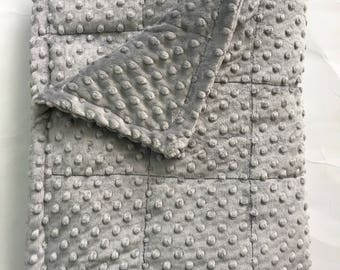 Grey minky weighted blanket 35X40 & 40X60