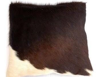 Natural Cowhide Luxurious Hair On Cushion/ Pillow Cover (15''x 15'') A70