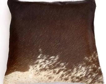 Natural Cowhide Luxurious Hair On Cushion/ Pillow Cover (15''x 15'') A107