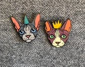 NEW NEW NEW! Sphynx Cat Party Pins <3