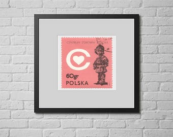 Poland 1972 Sc 1927 Piwowarski The Little Soldier Stamp: Postage Wall Art