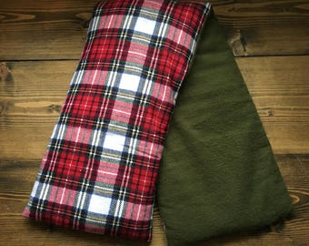 Rice Heating Pad // Plaid Rice Heat Pack // Neck & Shoulder Heating Pad // Therapy Rice Bag // Spa Neck Wrap // Cold Pack // Heating Pad