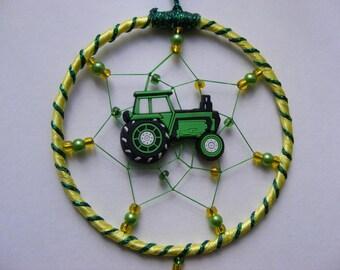 Tractor MINI Dreamcatcher Dream Catcher Farm Machinery NEW John Deere Colours