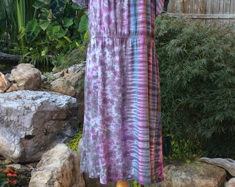 Flutter Sleeve Peasant Dress