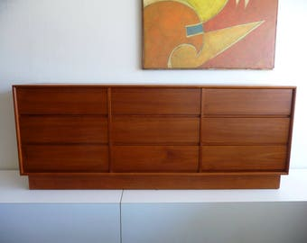 Mid Century Danish Modern Westnofa Dresser in Teak