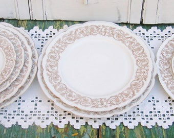 Antique Vintage Nathan Dohrmann Co San Francisco French Limoges Plates Various Sizes Dinner Luncheon Salad Dessert