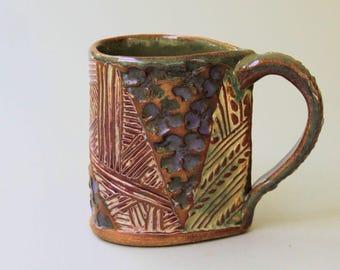 Dogwood Bloom Pottery Coffee Mug Hand Made Hand Built Clay