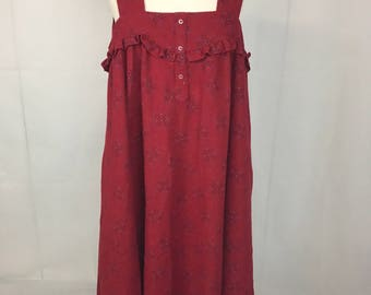 Long Felt Red Dress