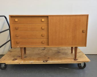 Vintage Danish Modern Credenza / Console by Domino - Free NYC Delivery!