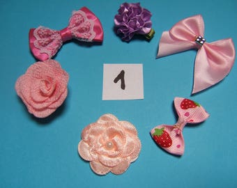 o1 satin and organza flowers n deco 20 to 30mm x 6 mm diameter