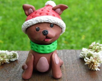 Christmas dog gifts, Pet memorial, Dog figurine, Custom dog figurine, Personalized dog figurine, Puppy custom figurine, Clay dog figurine